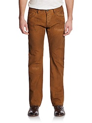 Cult Of Individuality Hagen Molasses Straight Leg Jeans Medium Brown
