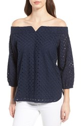 Chelsea 28 Women's Chelsea28 Eyelet Off The Shoulder Blouse