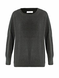 Equipment Melanie Round Neck Cashmere Sweater Grey