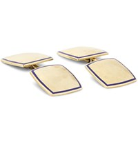 Foundwell Vintage 1930S Carrington And Co. 14 Karat Gold And Enamel Cufflinks Gold