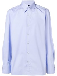 Tom Ford Button Down Shirt Blue