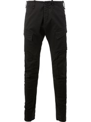 Masnada Tapered Cargo Trousers Black