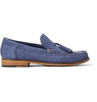 Grenson Grayson Tasselled Pebble Grain Nubuck Loafers Blue