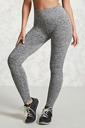 Forever 21 Active Marled Knit Leggings Charcoal