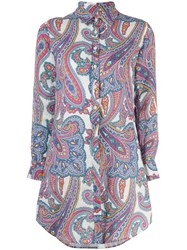 Mc2 Saint Barth Paisley Print Shirt Blue