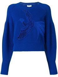 Kenzo Bird Embroidered Sweater Blue