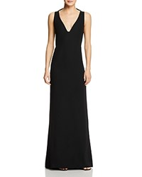 Emporio Armani Butterfly Ruffle Back Cutout Gown Black
