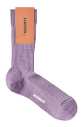 Missoni Wool Socks Purple