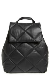 Topshop Bryan Puffer Quilted Leather Backpack