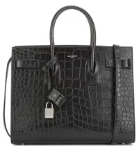 Saint Laurent Sac De Jour Small Embossed Leather Tote Black