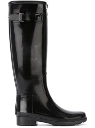 Outsource Images Buckle Wellington Boots Black