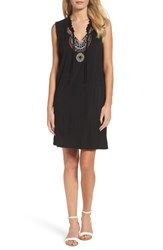 Thml Women's Embroidered Trapeze Dress Black