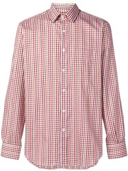 Canali Gingham Check Shirt Red