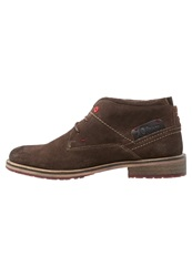S.Oliver Casual Laceups Mocca Dark Brown