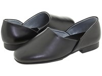 L.B. Evans Radio Tyme Ii Black Leather Men's Slippers