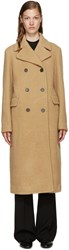 3.1 Phillip Lim Camel Wool Long Car Coat