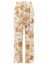 Max Mara Acume Trousers White Gold