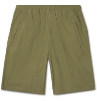 Acne Studios Romeo Cotton Ripstop Shorts Green