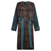 Alyona Davydenko Green Tweed Long Coat