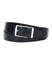 Giorgio Armani Traditional Dual Textured Leather Belt Blue Black