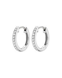 Kiki Classics 18K White Gold Diamond Hoop Earrings Kiki Mcdonough