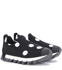 Dolce And Gabbana Polka Dot Sneakers Black
