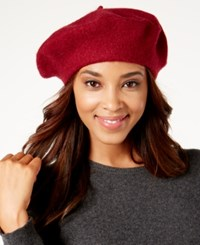 Inc International Concepts Solid Beret Created For Macy's Wine
