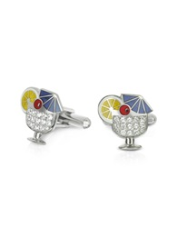 Forzieri Fashion Garden Drink Cufflinks Silver