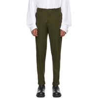 Ann Demeulemeester Green Prouding Trousers
