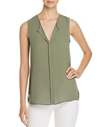 B Collection By Bobeau Lily Pleated Back Sleeveless Top Olive