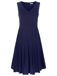 Kaliko Linen Blend Dress Navy