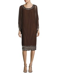 J Kara Plus Embellished Caftan Dress