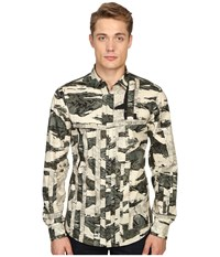 Just Cavalli Slim Fit Camowork Pring Woven Shirt Nut Variant