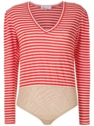 Spacenk Nk Striped Bodysuit Red