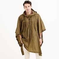 J.Crew Wallace And Barnes Hooded Military Rain Poncho