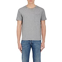 Valentino Men's Stud Embellished T Shirt Light Grey