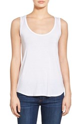 Paige Women's Denim 'Jessa' Stretch Jersey Tank Optic White