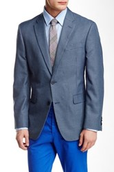 Tommy Hilfiger Ethan Blue Houndstooth Two Button Notch Lapel Coat
