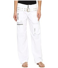 Johnny Was Poplin Cargo Pants White Women's Casual Pants