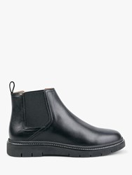 Hush Farley Leather Ankle Boots Black