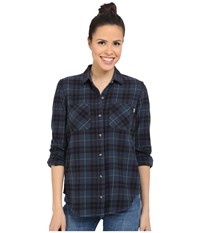 Vans Masika Flannel Navy Women's Long Sleeve Button Up