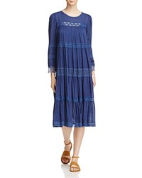 Beltaine Layla Swiss Dot Lace Midi Dress 100 Exclusive Navy