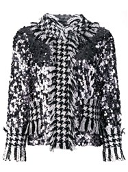 Dolce And Gabbana Sequinned Tweed Jacket Black