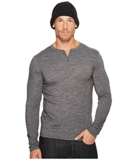 Royal Robbins Merinolux Henley Charcoal Men's Long Sleeve Pullover Gray
