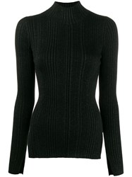 Helmut Lang Striped Roll Neck Sweater 60