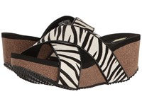 Volatile Blade Black White Zebra Women's Sandals