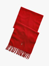 Ralph Lauren Polo Wool Scarf Red