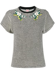 Shrimps Adora Embroidered T Shirt White