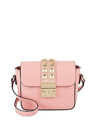 Valentino Lalie Studded Leather Satchel Rose Quartz
