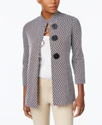 Jm Collection Print Jacket Only At Macy's Black Geo Combo